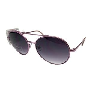 JUICY COUTURE Lilac Pink Metal Aviator Sunglasses